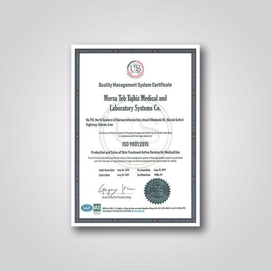 ISO 9001 شرکت مرساطب تجهیز